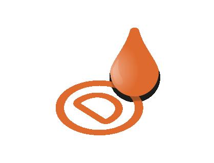 Neapolitans orange ink